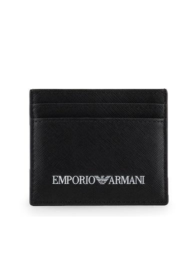 Emporio Armani  Logo Baskılı Kartlık Erkek Kartlık Y4R324 Y020V 81072 Siyah